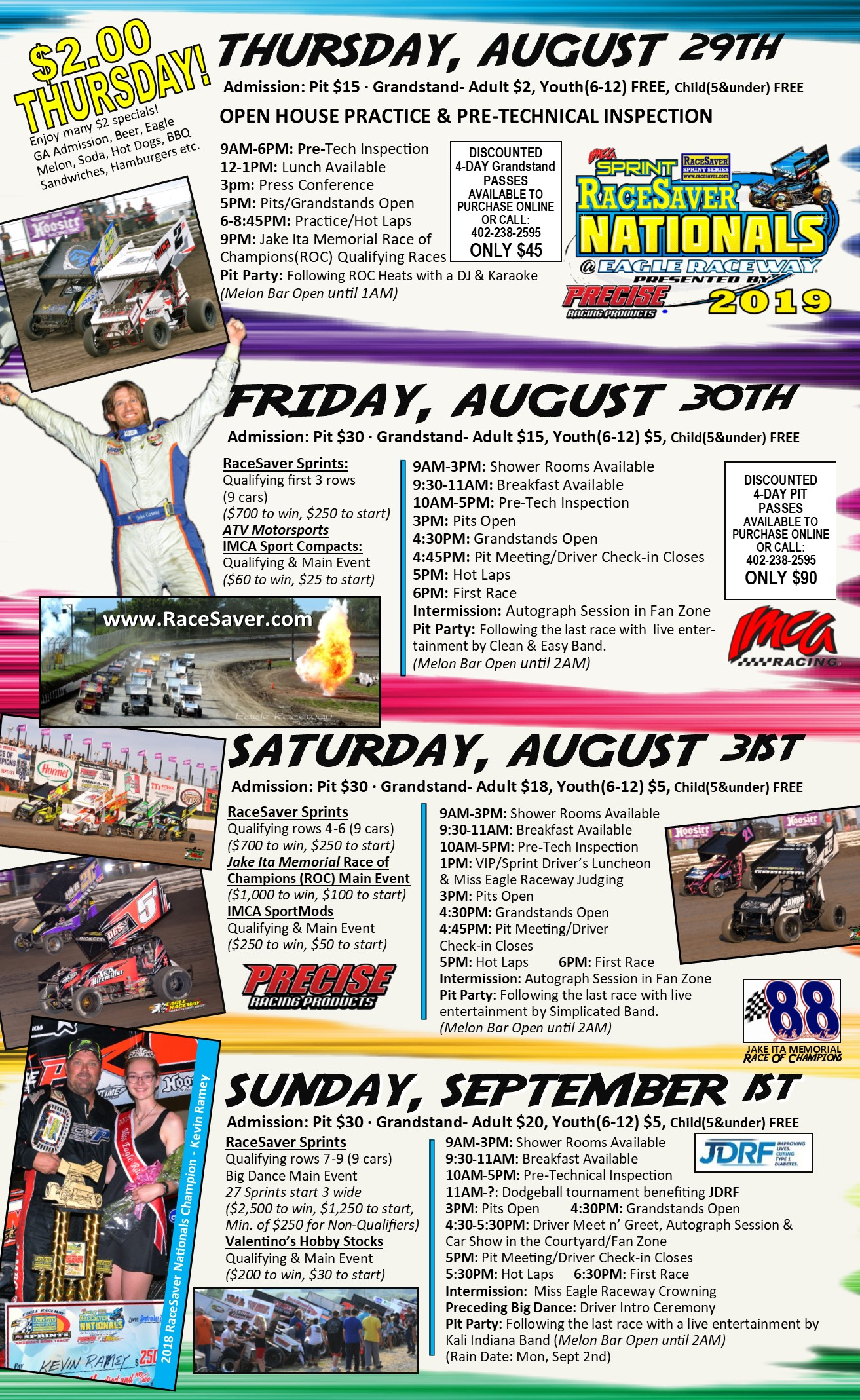 photo regarding Nationals Printable Schedule titled 2019 RaceSaver Nationals Driver Registration is previously Open up