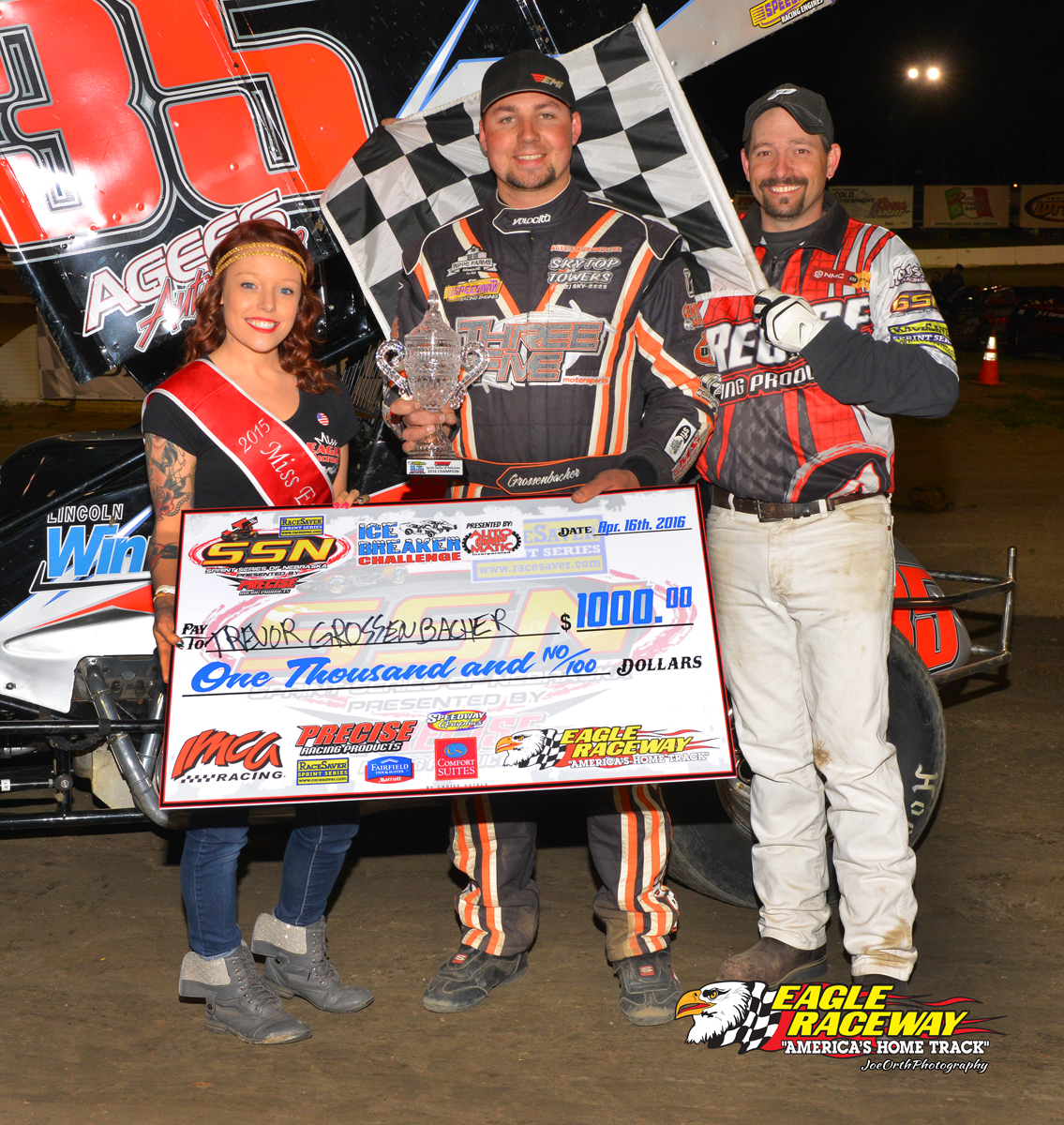 Grossenbacher wins Ice Breaker Challenge in Eagle, NE