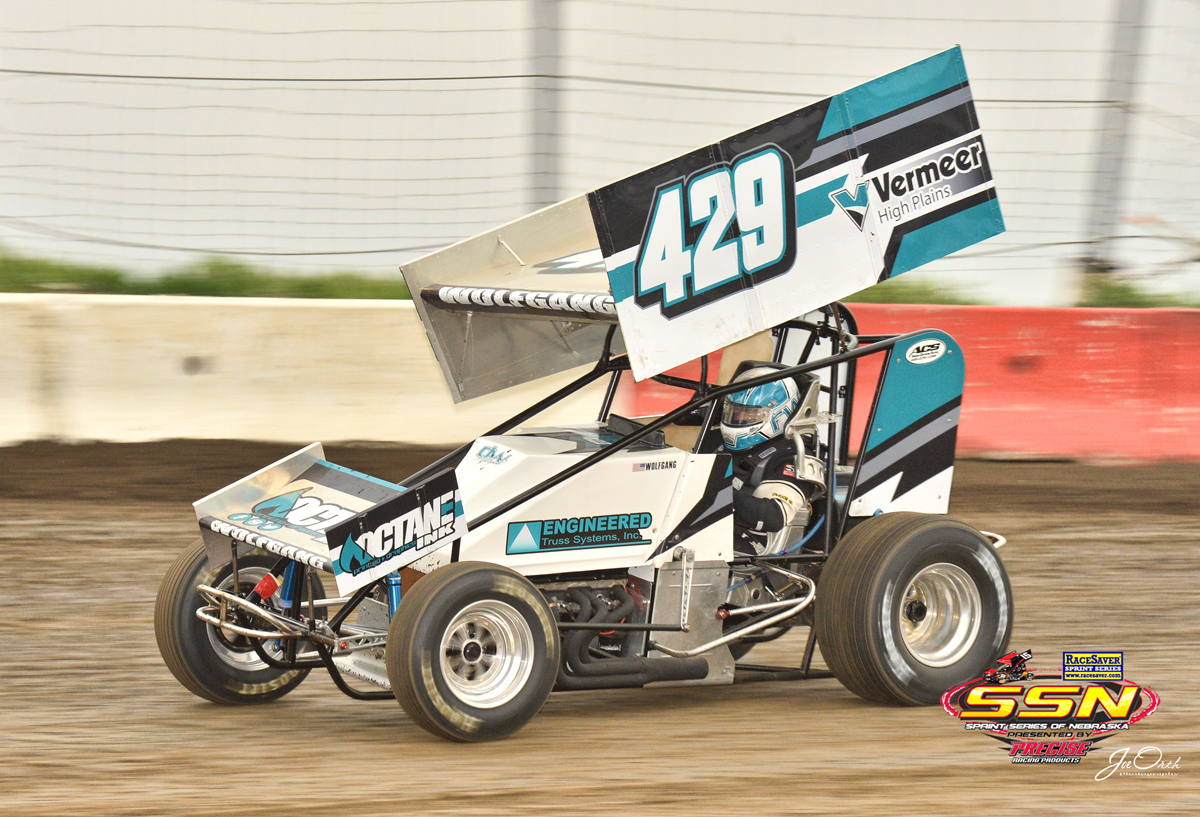 Wolfgang Rocks SSN race at I-80 Speedway