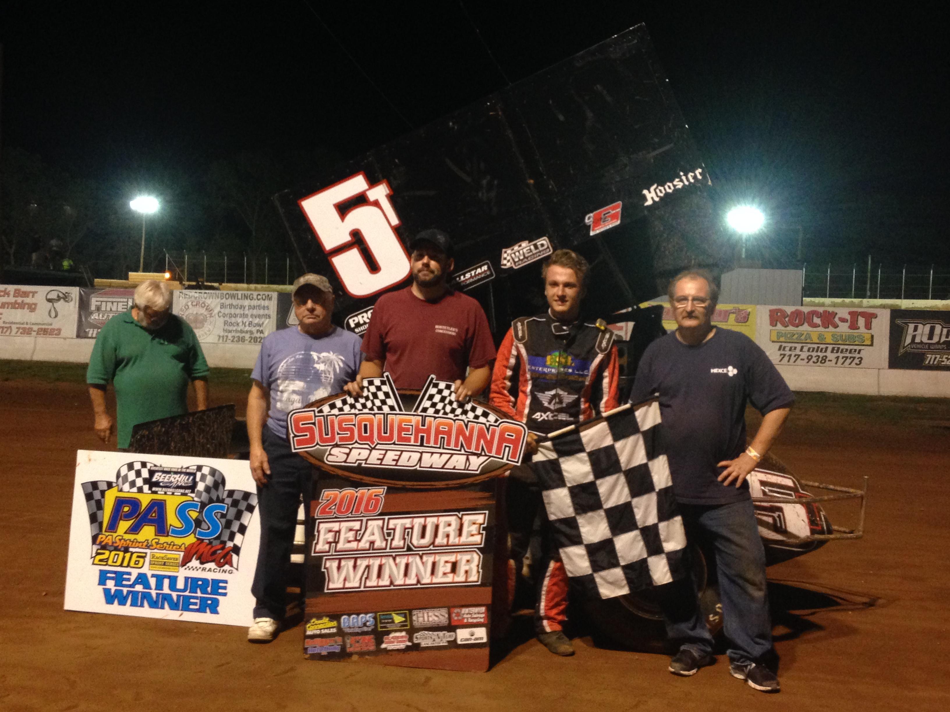 Reeser wins at PASS race, Fans raise over $2,000