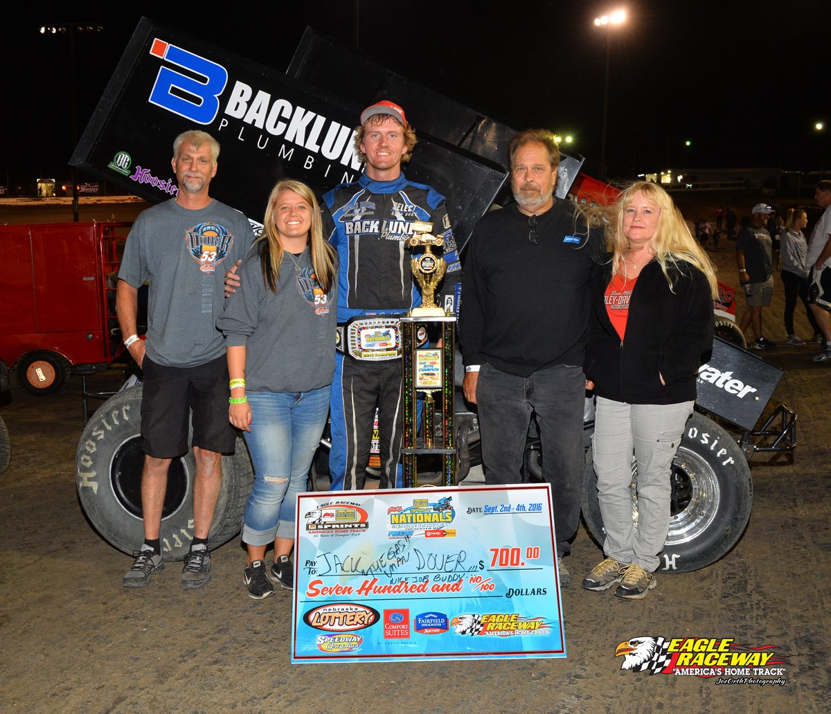 Jack Dover wins Friday Sept 2nd's Qualifier Feature at Sprint Nationals!