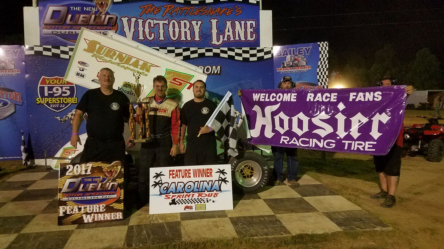 Surnaik wins Carolina Sprint Tour event at Dublin Motor Speedway