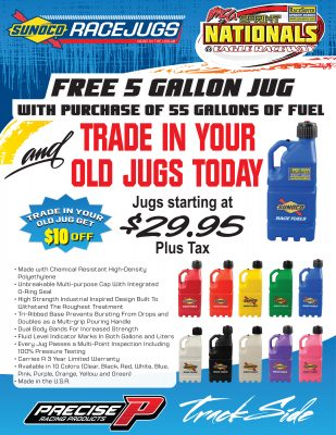 Sprint Nationals SONOCO Race Jugs -FREE with Fuel Purchase