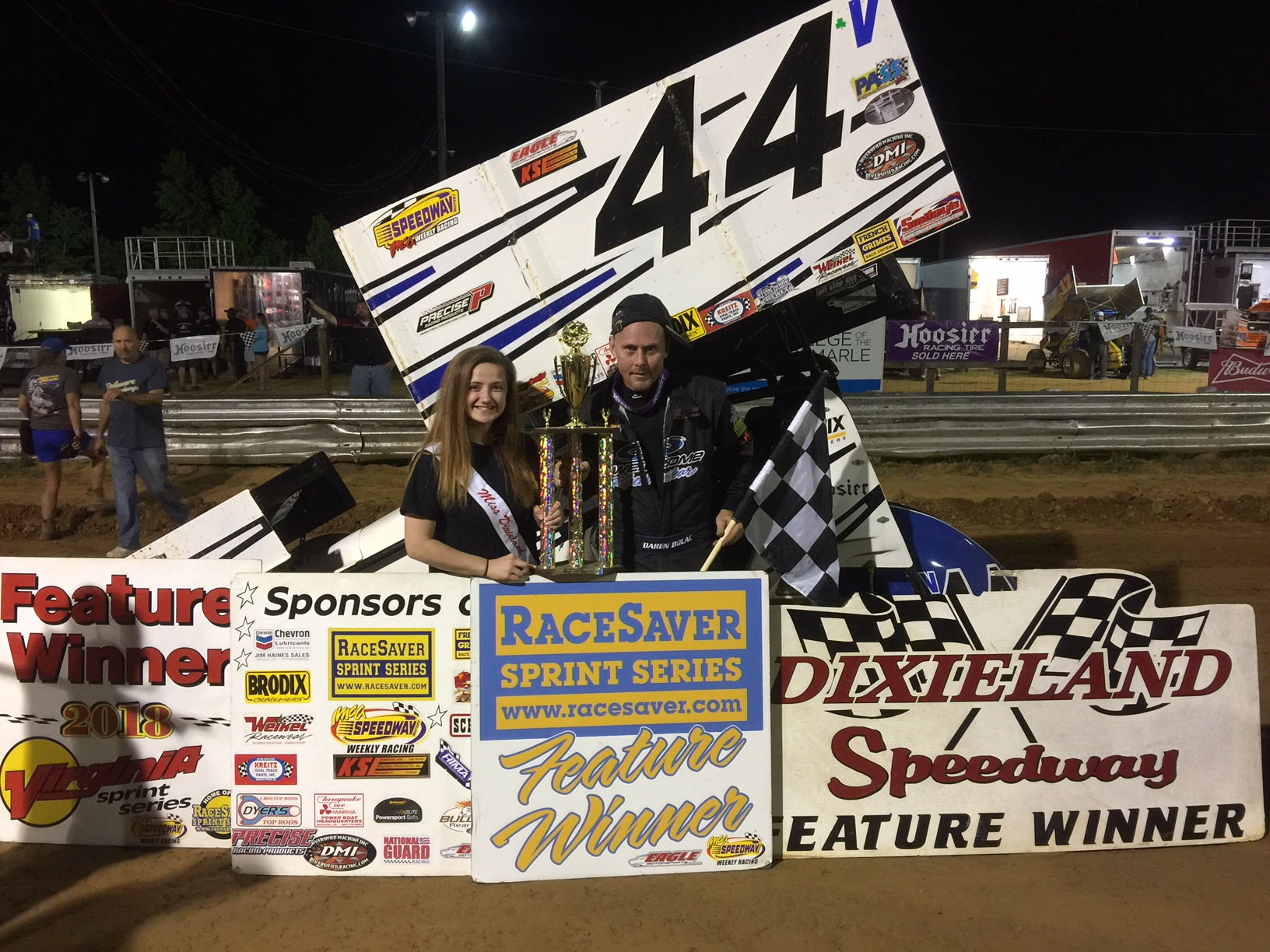 Daren Bolac wins VSS race at Dixieland Speedway