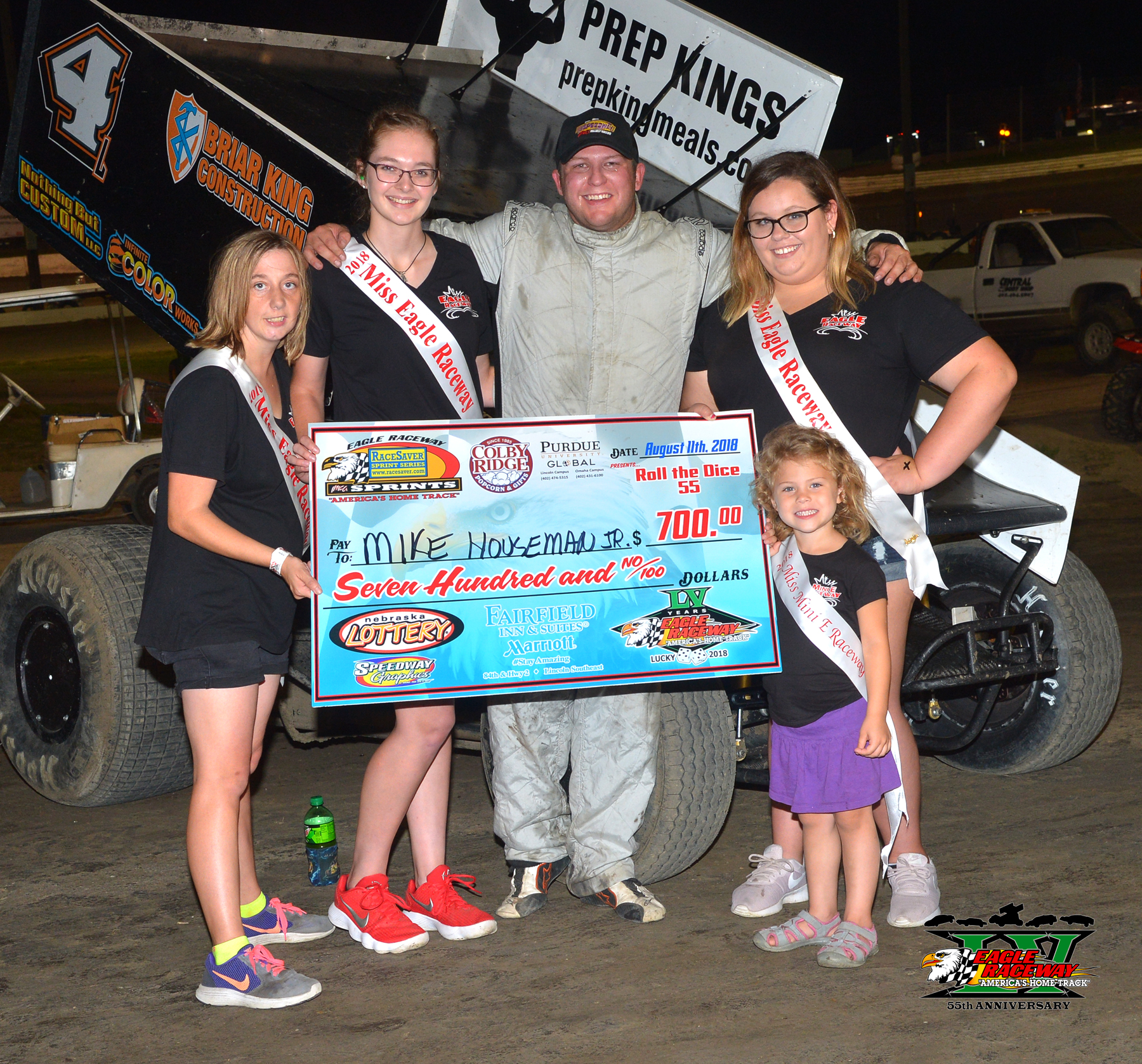 Mike Houseman Jr. is the 12th different RaceSaver Sprint winner at Eagle Raceway in 2018!
