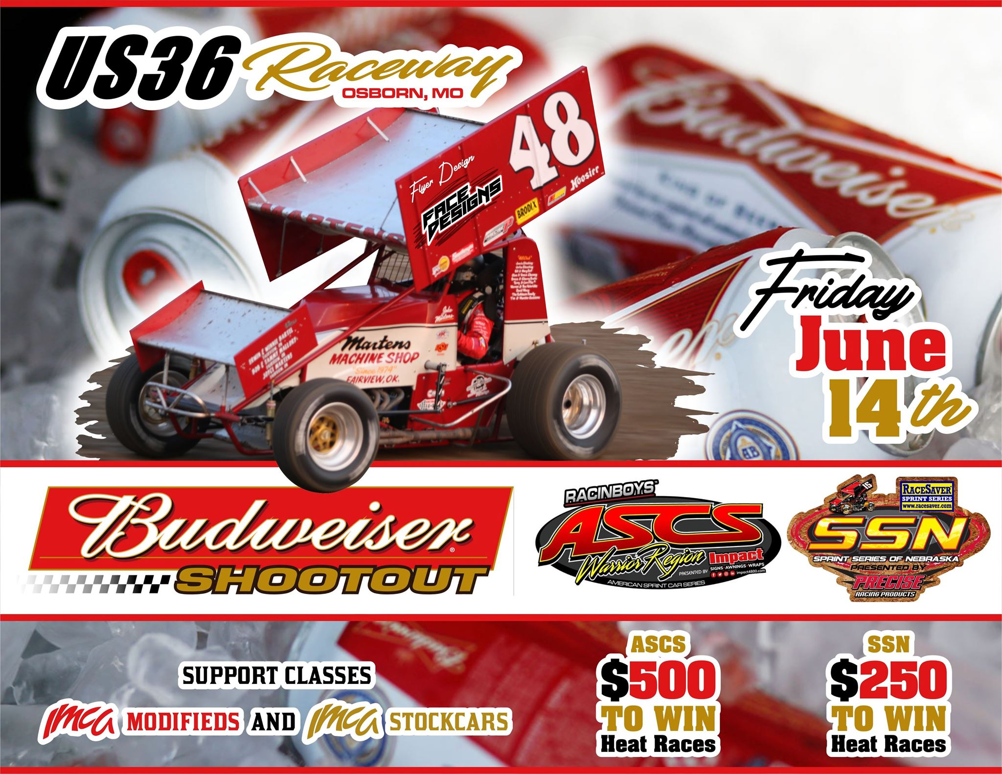 Sprint Series Of Nebraska at US 36 June 14th
