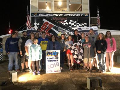 Duke Wins at home town track Selinsgrove Sprint Speedway