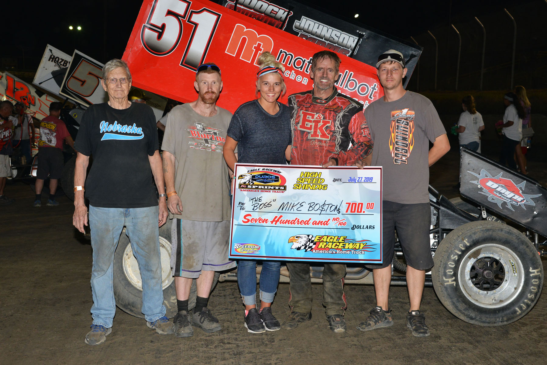 Boston captures win at Eagle Raceway July 27th