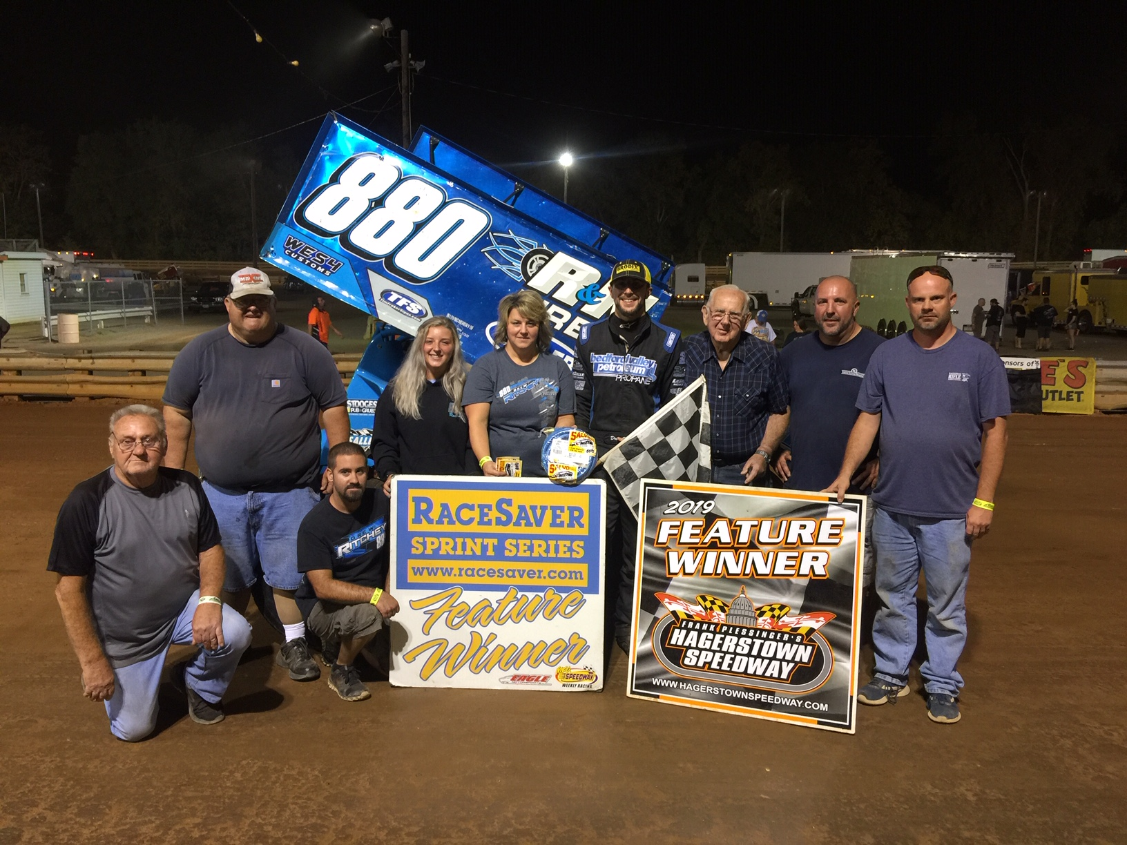 Drew Ritchey Wins at  Hagertown Speedway