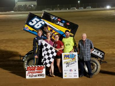 FRYE'S FIRST WIN AT TRAIL-WAY