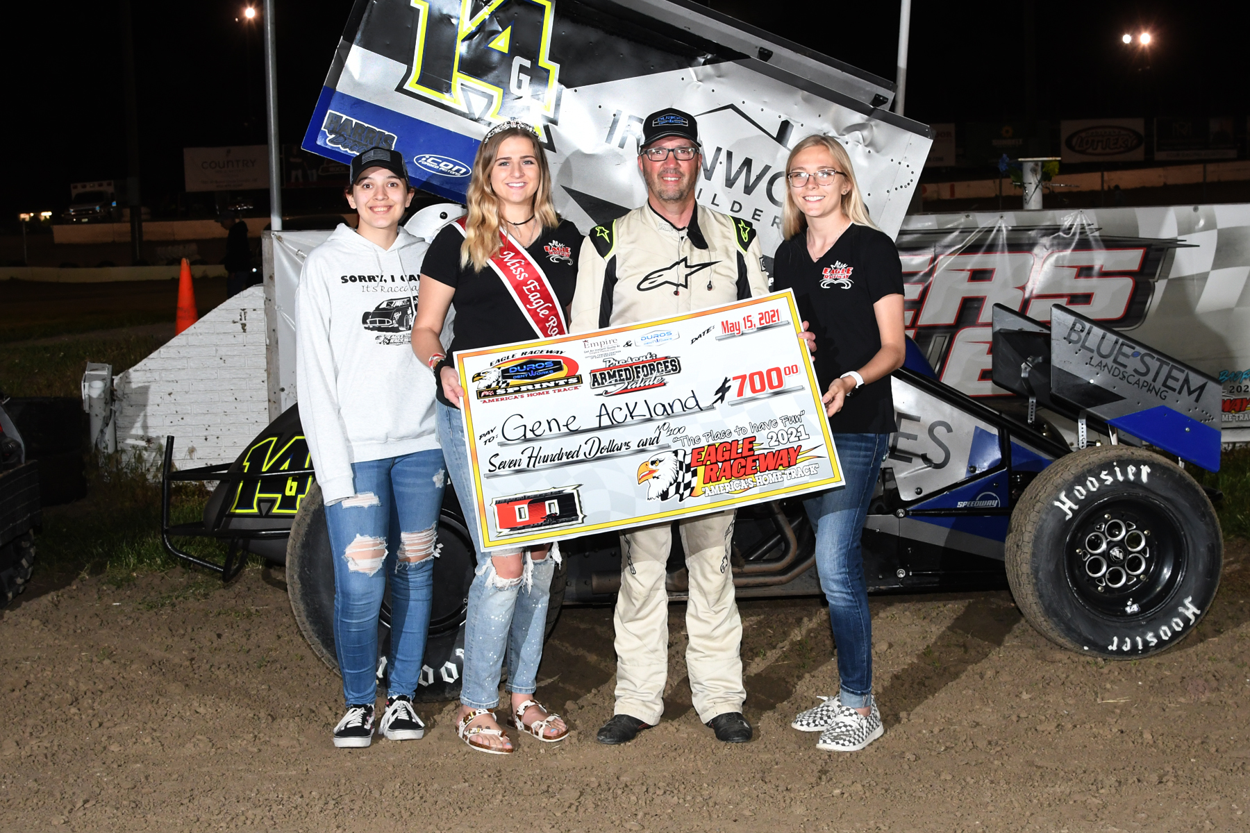 Ackland takes the win on Armed Forces Night at Eagle Raceway
