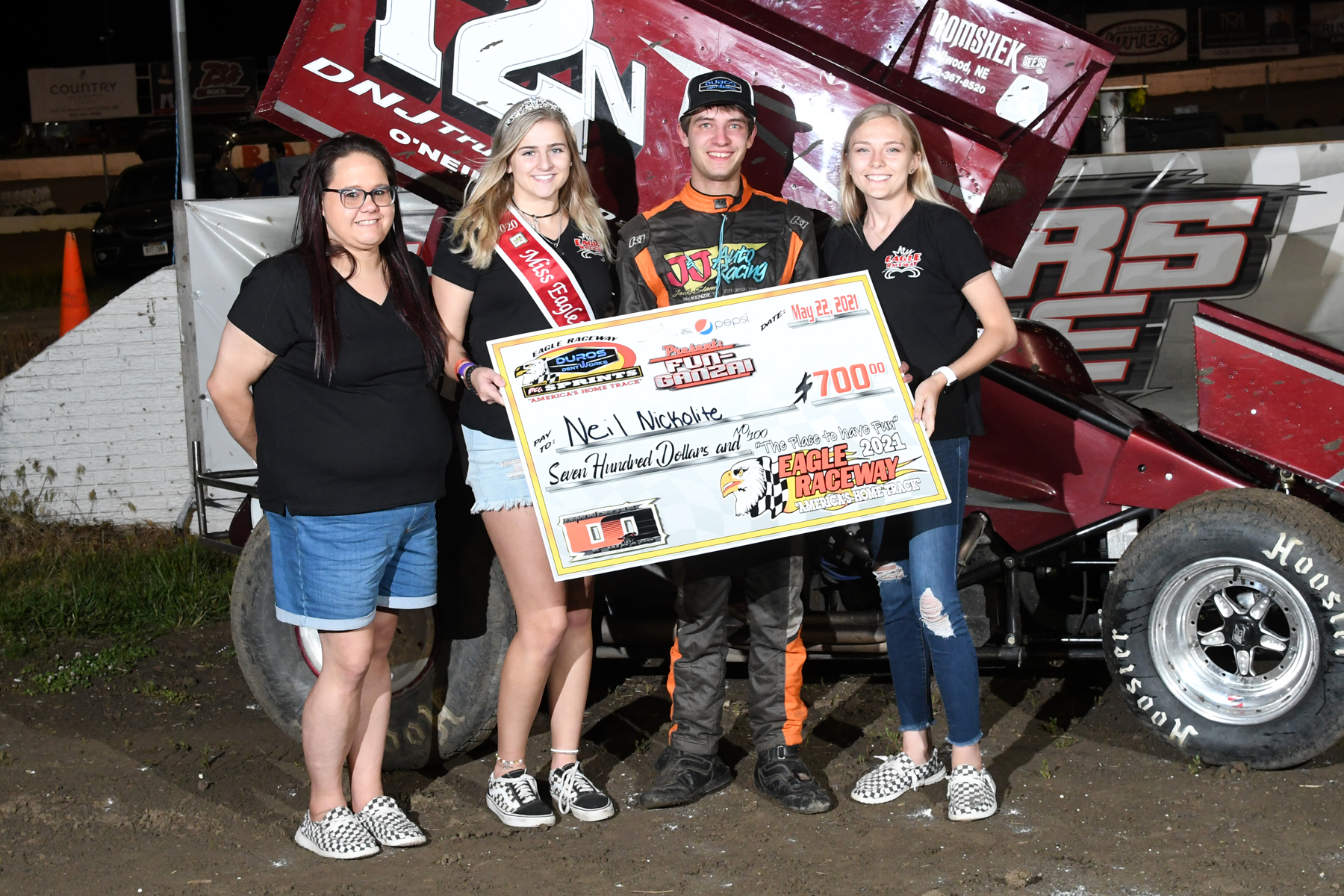 Nickolite gets first RaceSaver Sprint win at Eagle Raceway