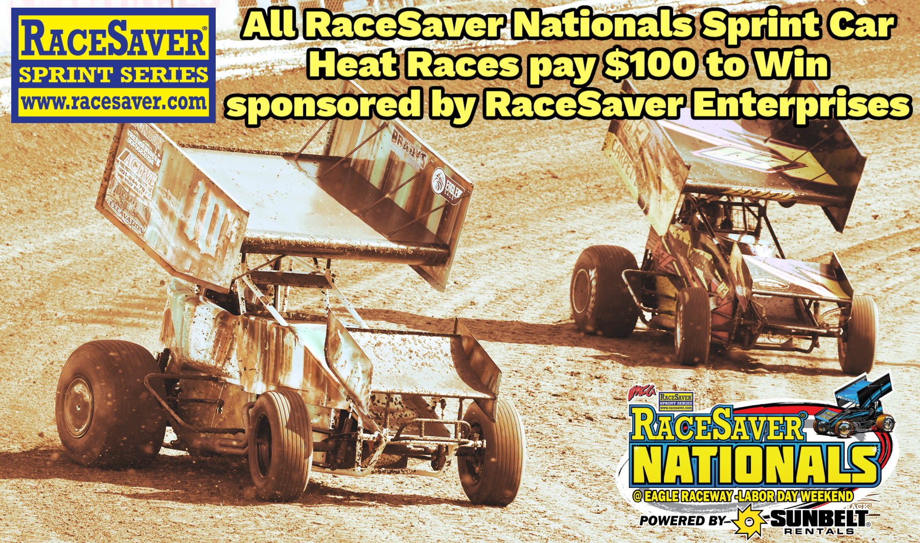 IMCA RaceSaver Nationals Heat Races at Eagle Raceway will now pay $100 to win.