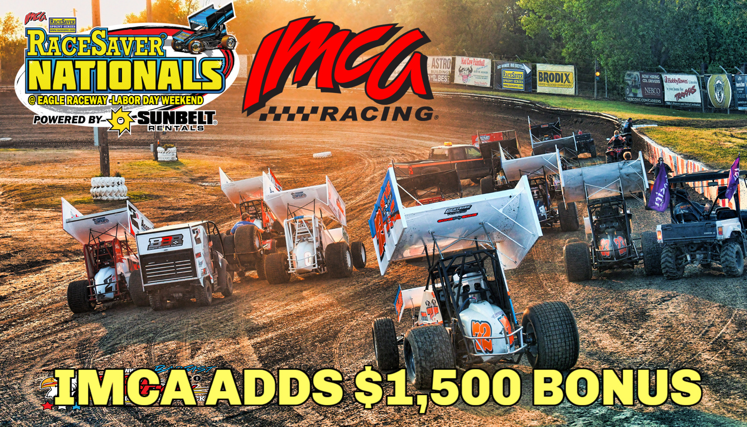 IMCA TO GIVE $1,500 BONUS to RaceSaver Nationals Champion at Eagle Raceway Labor Day weekend